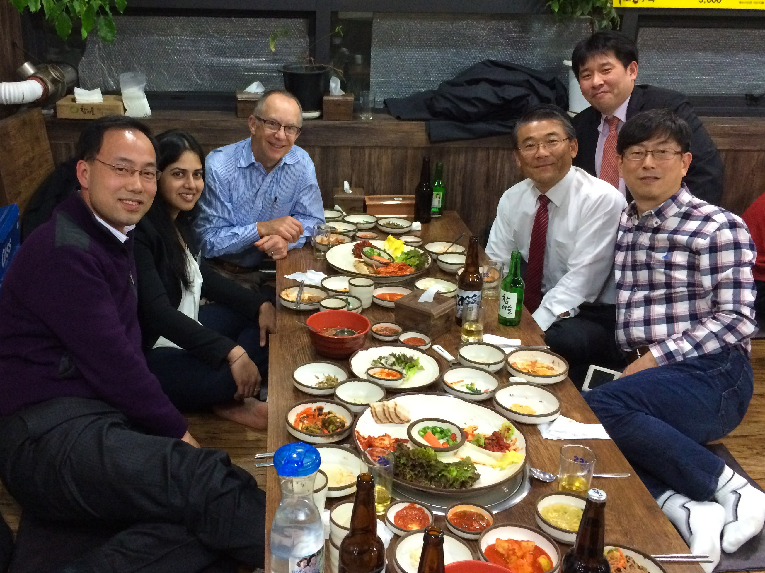 Dinner after OVNC with Dr. Won-Ki Hong, Victor