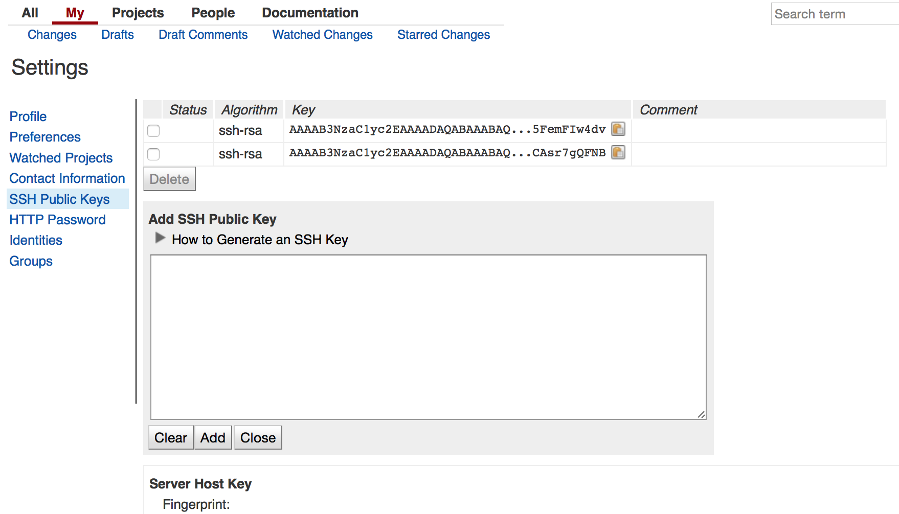 password for the ssh key id_rsa intellij